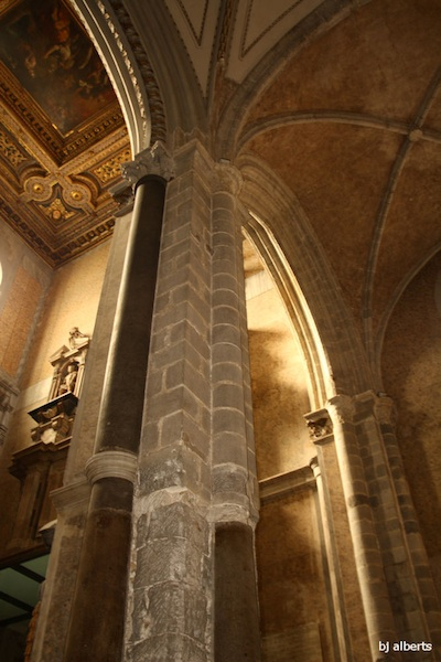 Exposed Gothic Vault at il Duomo, Naples Cathedral