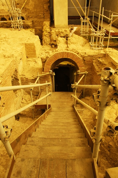 Entrance to the Hypogeum, Roman Thermal Bath Complex, Santa Chiara Church, Naples