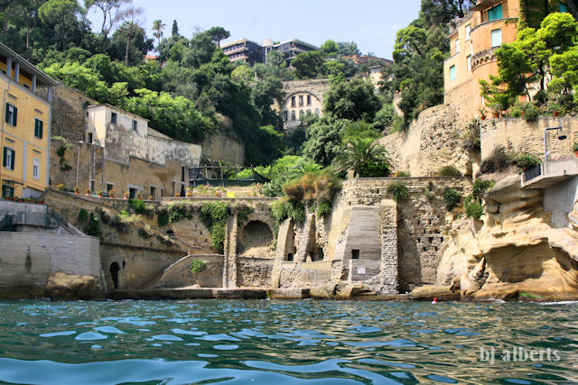 Cove along Posillipo Coast Naples, Italy