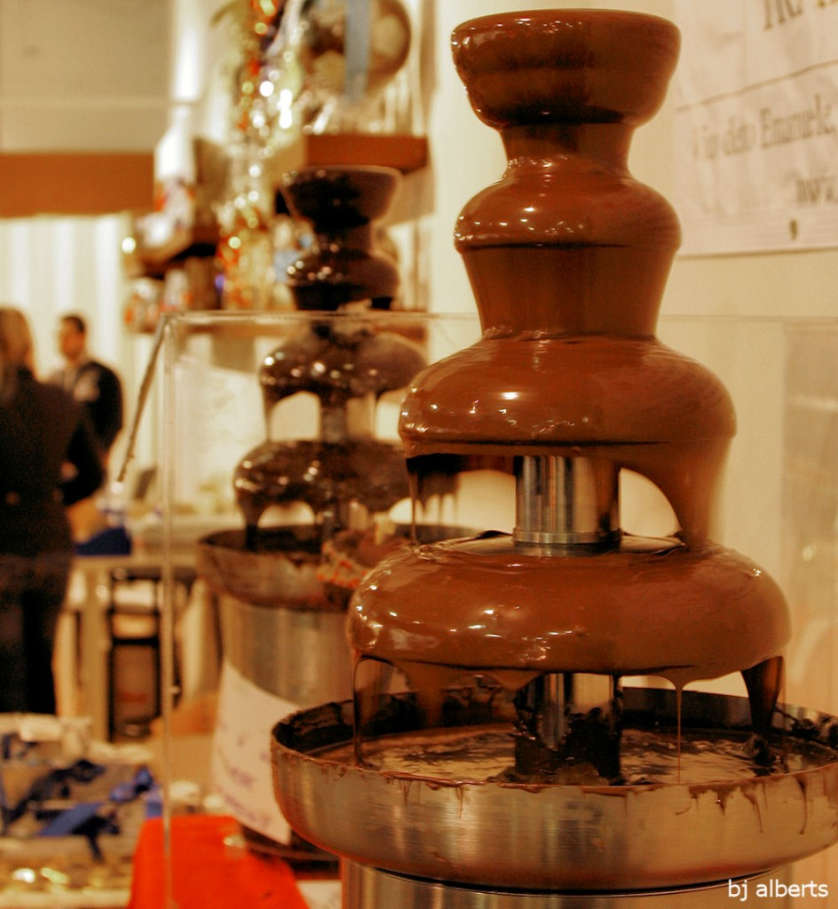 Chocolate Fountain Showcolate 2010 Naples Italy