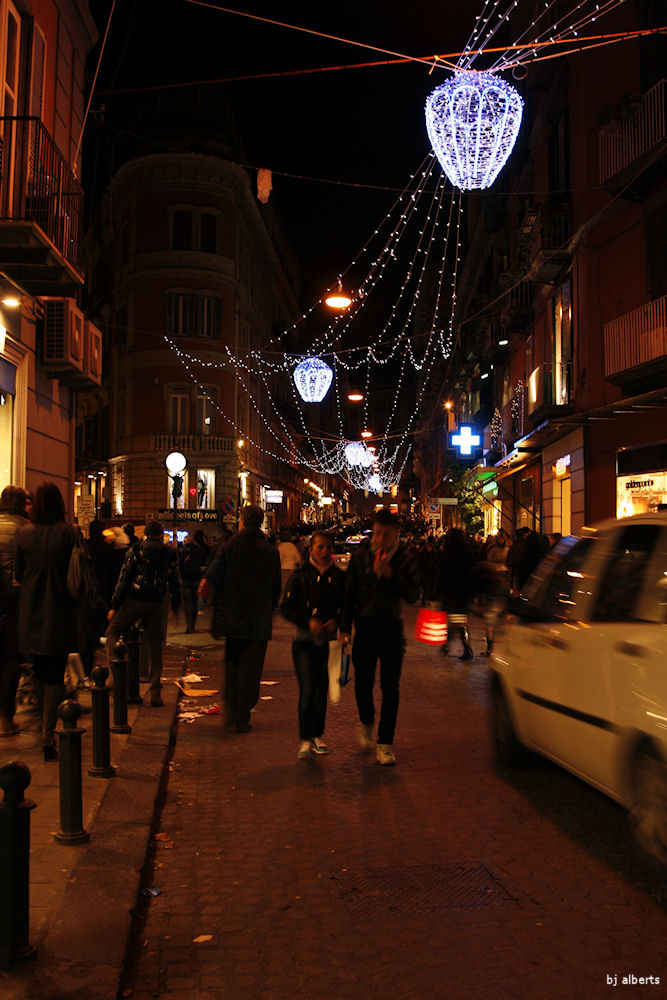 Christmas Lights in Chiaia Naples Italy
