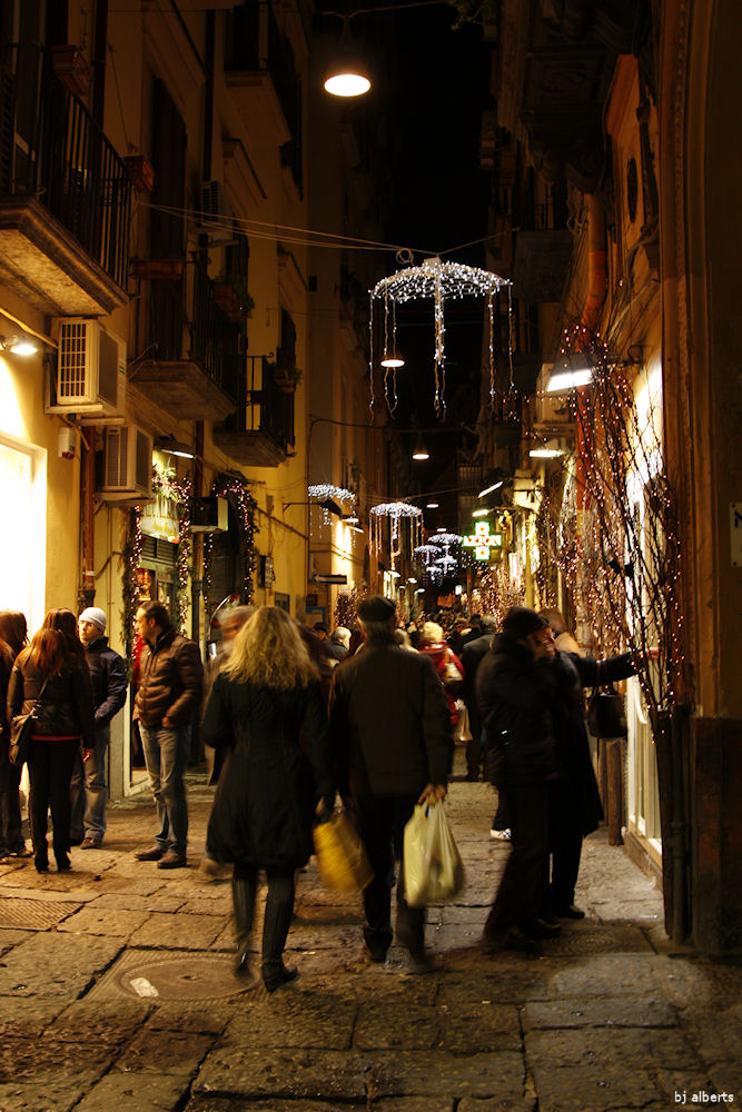 Christmas Shopping in Chiaia Naples Italy