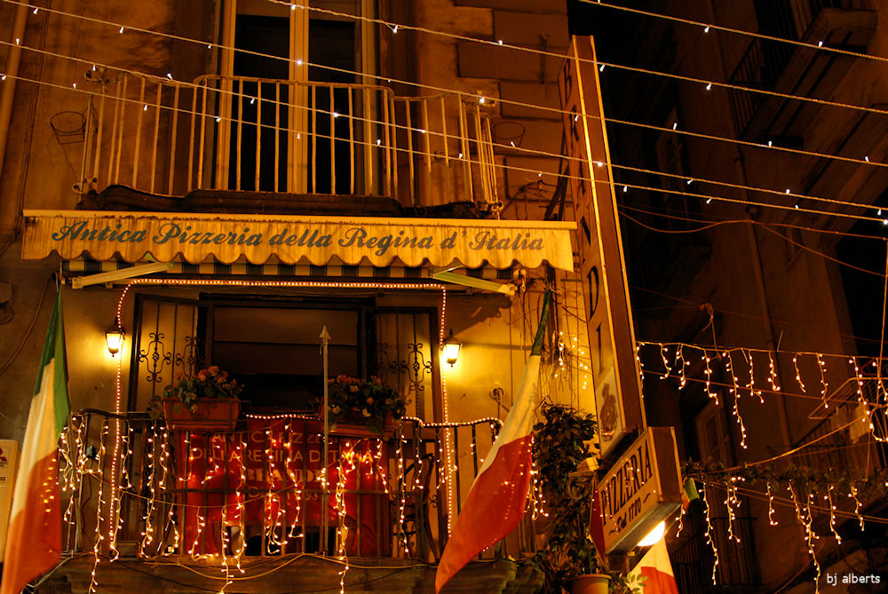 Christmas Lights along Via Chiaia Naples Italy