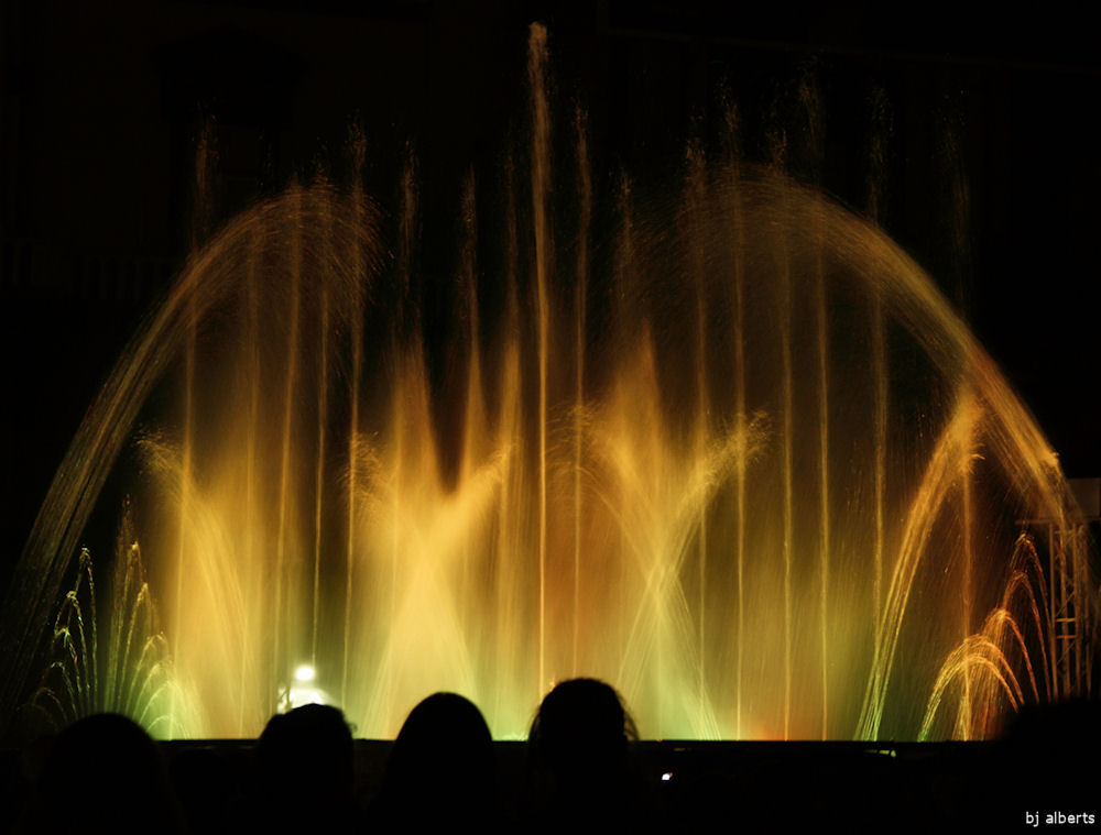 Christmas Dancing Fountain Naples Italy