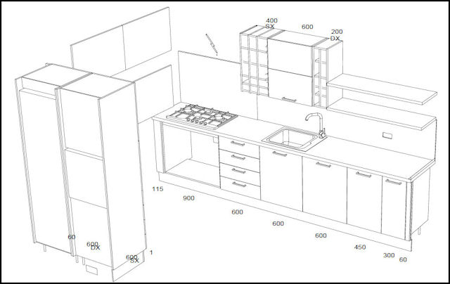 Ikea or scavolini that is the question napoli unplugged for One wall kitchen dimensions