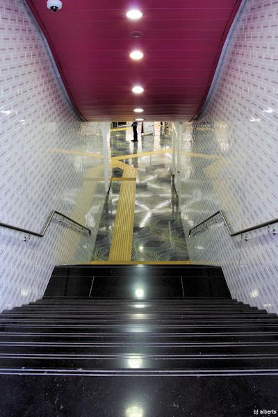 Entrance to the Universita Metro Station Naples Italy