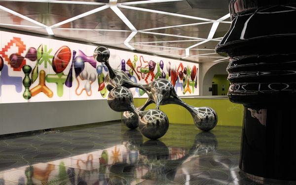 Artworks in Metro Napoli Universita Station Main Level Naples Italy