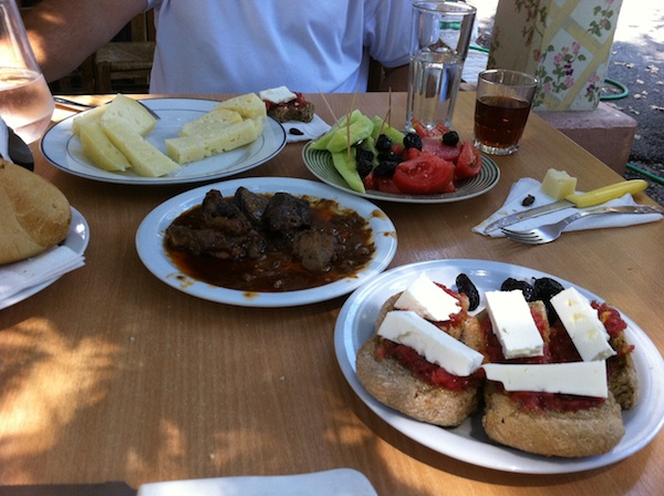 Lunch in a small village near Akrotiri, Chania, Crete
