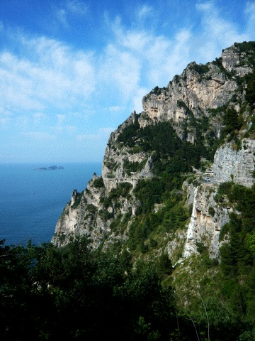 View of the Amalfi Coast from the SITA Bus 1