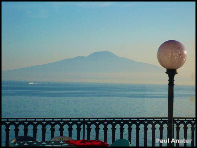 View of Vesuvius from Villa la Terrazza Sorrento, Italy