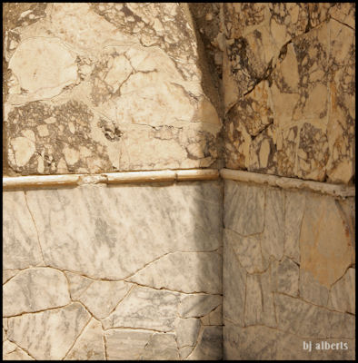 Archaeological Thermal Bath Complex at Via Terracina - Detail of the Marble Covered Walls
