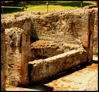 Archaeological Thermal Bath Complex at Via Terracina - The Semicircular Bath in the Frigidarium