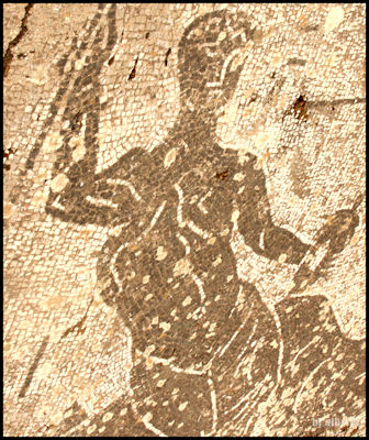 Archaeological Thermal Complex at Via Terracina - Poseidon Sitting on a Marine Dragon