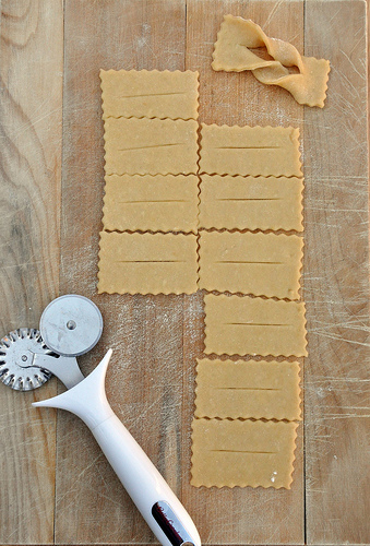 Chiacchiere Dough cut outs