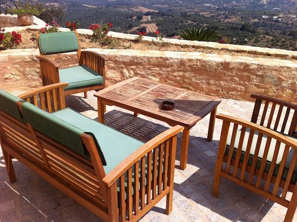Veranda of Villa Anezina, Kastellos Village, Chania, Crete