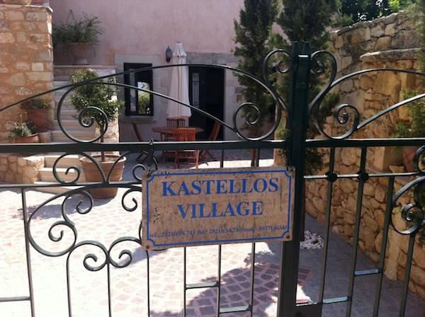 Entrance of Kastellos Village, Chania, Crete