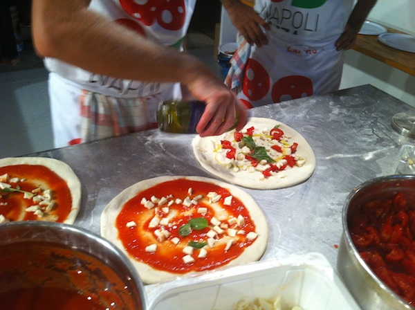 Making Pizza at Napoli Pizza Village 2011