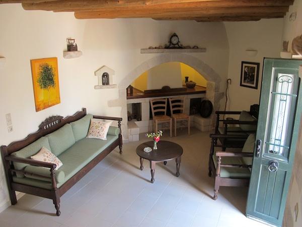 Living room of Villa Anezina, Kastellos Villas, Chania, Crete
