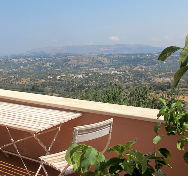 Terrace on the 2nd level of the Villa in Kastellos Village
