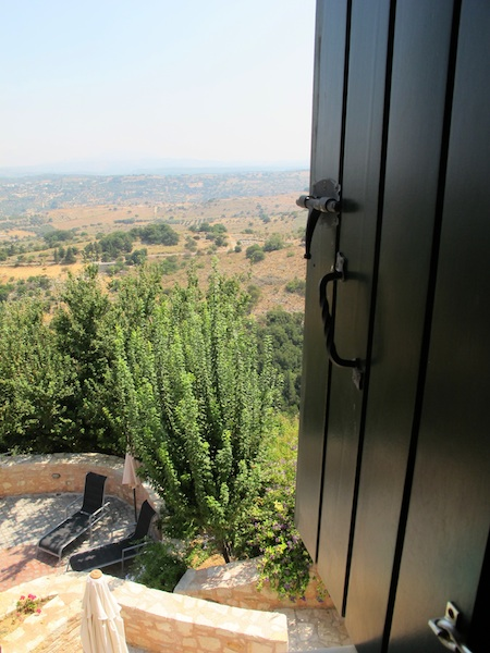 View from the upstairs bedroom at Kastellos Village