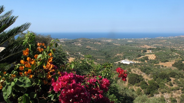 View towards the Sea from Kastellos Village, Chania, Crete