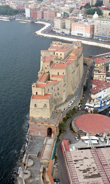 Arial View of Castel dell'Ovo Naples, Italy