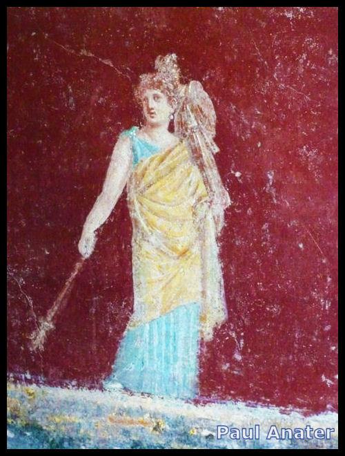 Iphigenia, fresco in Villa San Marco, Stabian Villas