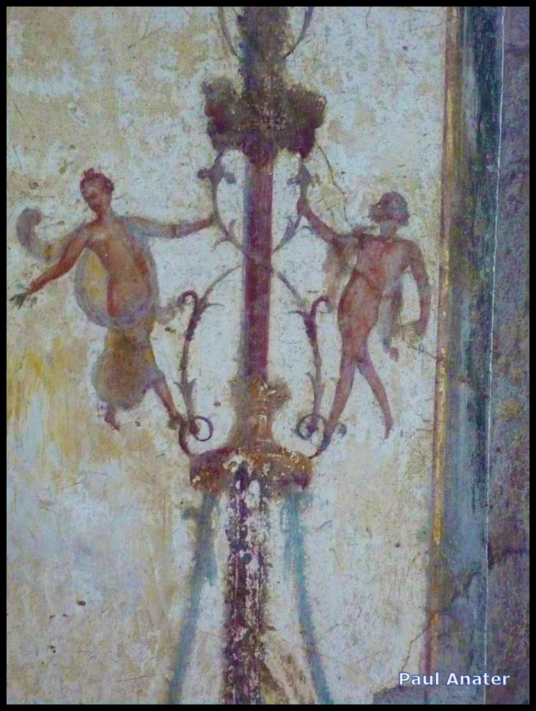 Detail of a Fresco in the main dining room of the Villa San Marco, Stabia