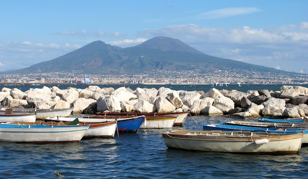 Vesuvius from Lungomare
