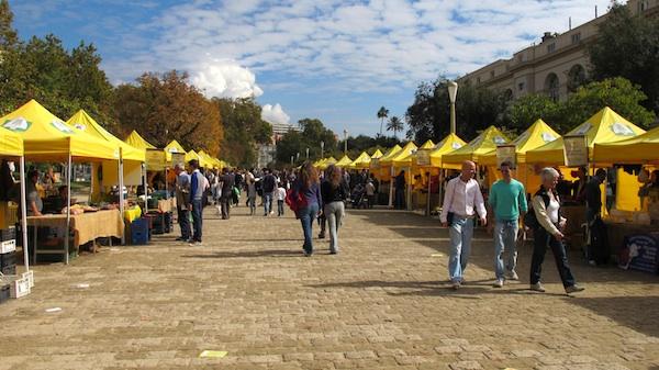 Coldiretti Market at Naples Villa Comunale Park