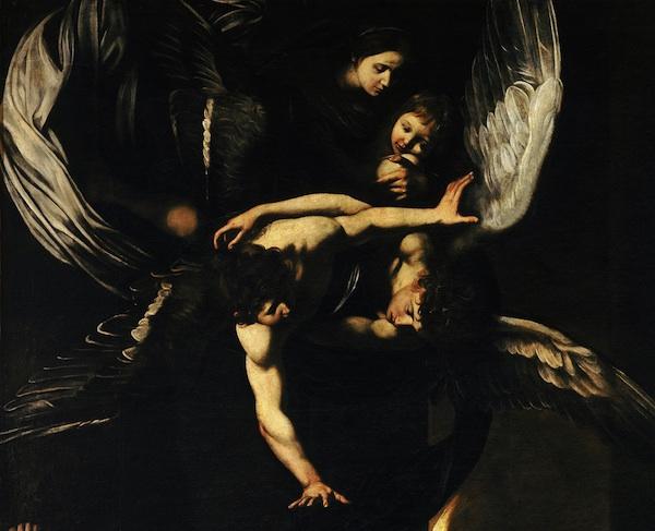 Sette Opere d Misericordia - Madonna col Bambino e angeli