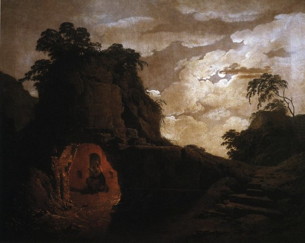 Joseph Wright's Virgil's Tomb with Silius Italicus