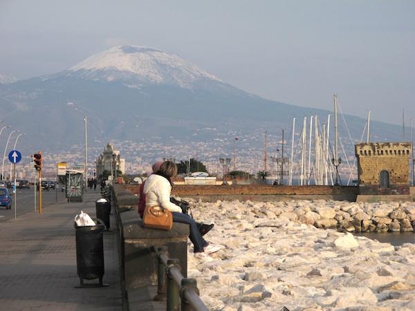 Vesuvius from Castel dell'Ovo, Naples, Italy