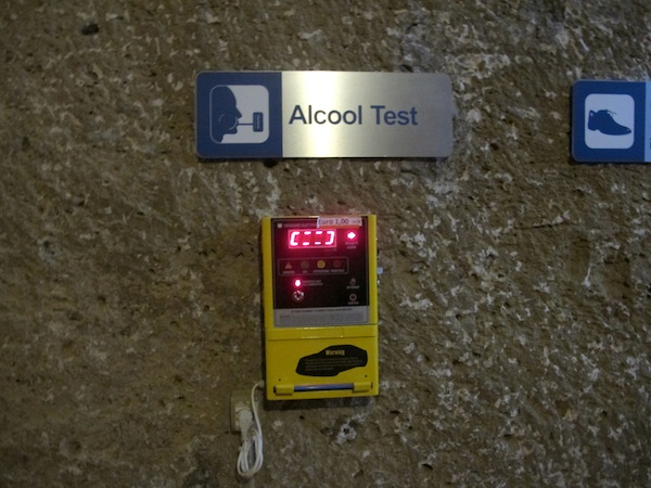 Alcohol Test Point at Parcheggio Morelli