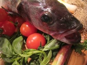 Ingredients for Spigola al Forno