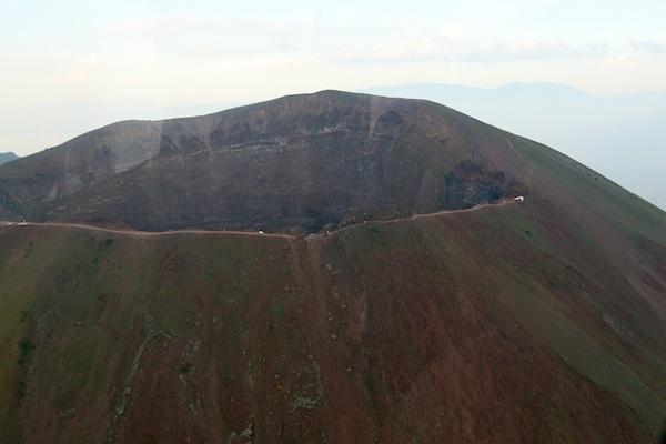 Aerial View of Mt. Vesuvius