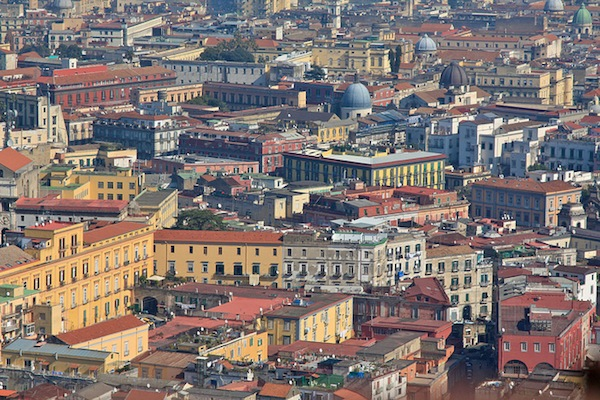 The City of Naples from Salita Pedamentina