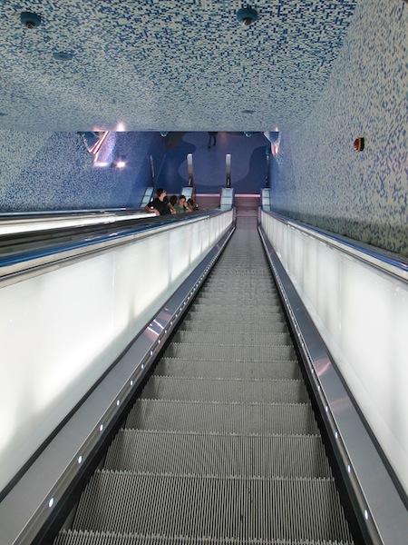 Toledo Metro Station in Naples, Italy