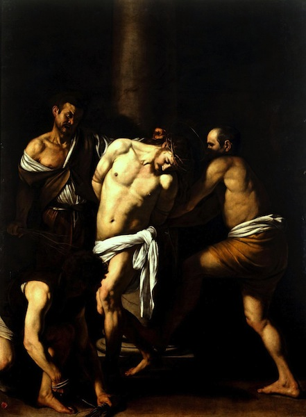 The flagellation of christ caravaggio who are the people in the portrait
