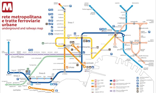 Naples Metro Map Napoli Unplugged