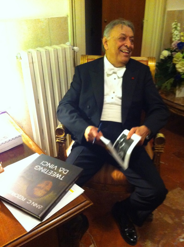 Zubin Mehta during intermission from conducting Tristan and Isolde