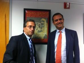 Mayor de Magistris and Prof. Stanislao Pugliese
