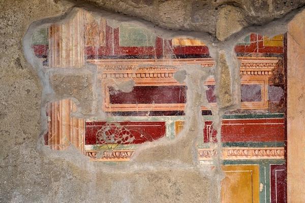 VILLA ARIANNA  - cubicolo con affreschi di II stile